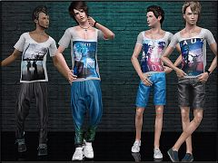 Sims 3 top, outfit, clothing, casual, male