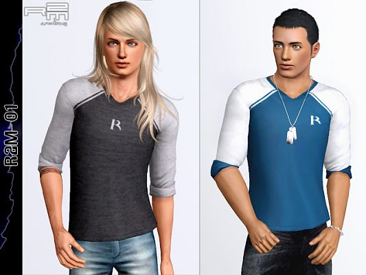 Sims 3 top, fashion, males