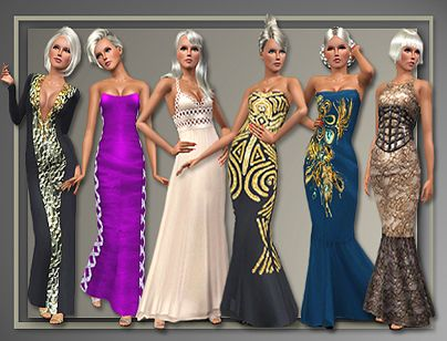 Sims 3 dress, cloth, clothing, outfit, fashion, gown, formal, evening