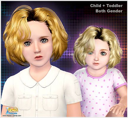 Sims 3 hair, hairstyle, genetics, female, kids