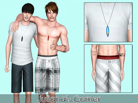 Sims 3 necklace, jewelry, accessories, male