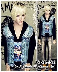Sims 3 hoodie, top, outfit, clothing, casual, male