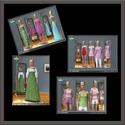 Sims 3 dress, cloth, clothing, outfit, fashion, sims