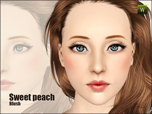 Sims 3 blush, makeup, doll