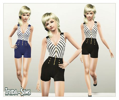 Sims 3 outfit, jumpsuit, fashion