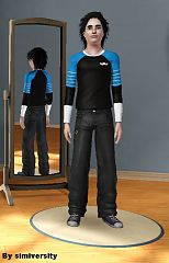 Sims 3 top, athletic, teen, male