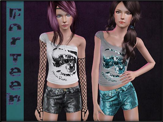 Sims 3 teen, clothing, clothes, fashion, females