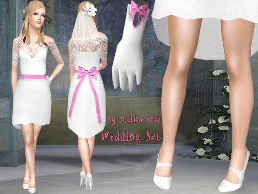 Sims 3 wedding, set, clothes