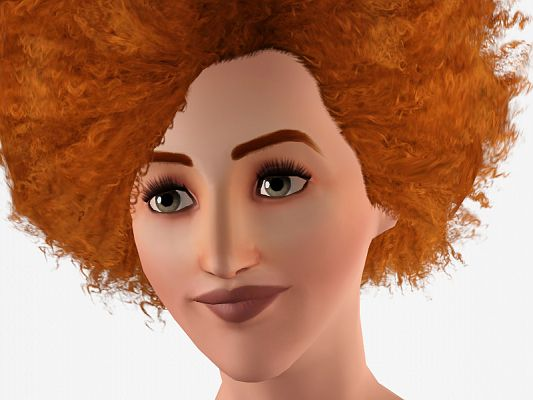 Sims 3 hair, hairstyle, afro, female