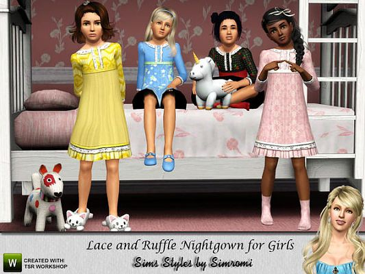 Sims 3 camis, lace, night, rufle