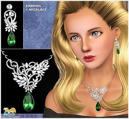 Sims 3 necklace, jewelry, earrings