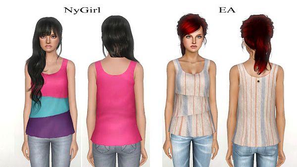 Sims 3 top, clothing, clothes, fashion, females