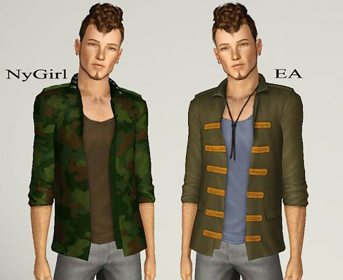 Sims 3 blazer, top, outfit, clothing, casual, male