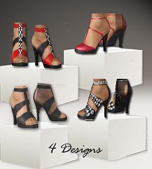 Sims 3 shoes, style, fashion, strap