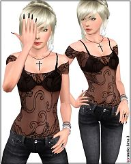 Sims 3 top, mesh, gypsy, fashion, clothes