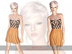 Sims 3 outfit, fashion, clothing, female, dress, formal