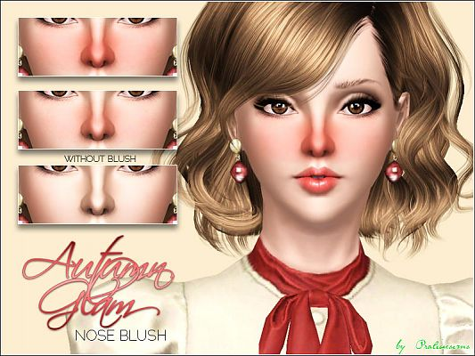 Sims 3 blush, eyebags, makeup, female