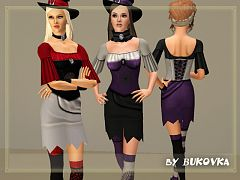 Sims 3 dress, fashion, clothing, casual, female, witch