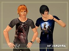 Sims 3 t-shirt, clothing, male, outfit