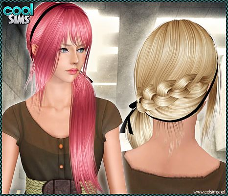soccer hairstyles for girls : Sims 3 Updates - Cool Sims : Braid and tail hairstyle at Cool Sims