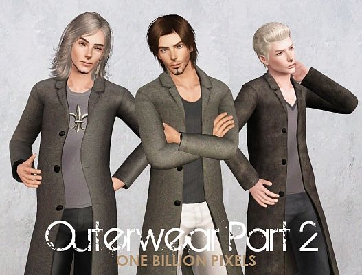 Sims 3 outfit, outerwear, clothing, male