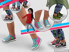 Sims 3 shoes, toddler, fashion, female, sneakers