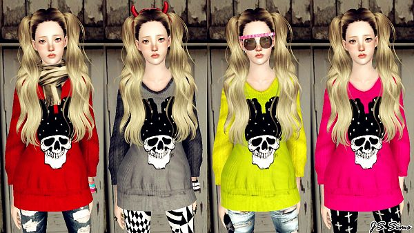 Sims 3 sweater, clothing, female, outfit