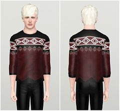 Sims 3 heater, sweater, pullover, top, male, fashion, clothing