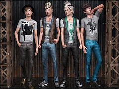 Sims 3 clothing, fashion, sims 3, males