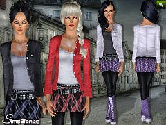 Sims 3 clothes, fashion, set, sims3