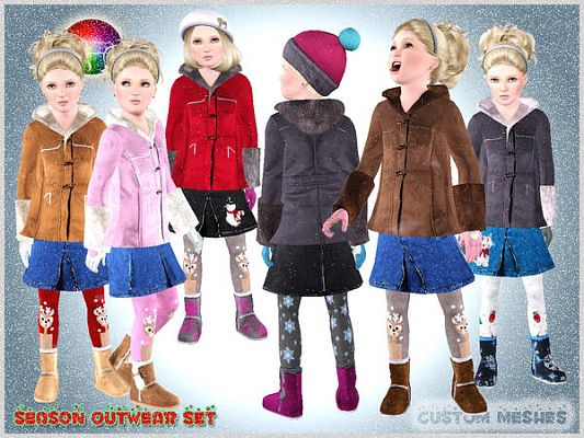 Sims 3 Seasons Outfits Sims 3 Outfit Outwear Set