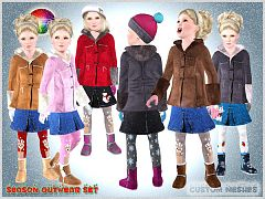 Sims 3 outfit, outwear, set, clothing