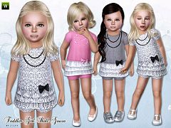 Sims 3 dress, gown, toddler, clothing