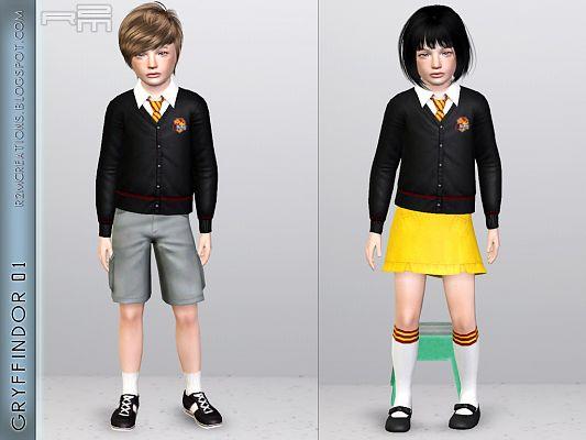 Sims 3 uniforme, clothing, child