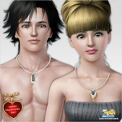 Sims 3 necklace, jewelry, accessories, female, male