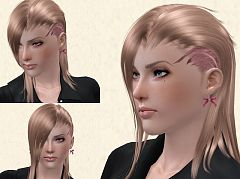 Sims 3 hair,hairstyle,female, sims 3, retextured