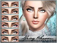 Sims 3 eyelashes, eyeliner, makeup, fashion, female