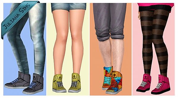 Sims 3 sneakers, shoes, female, athletic