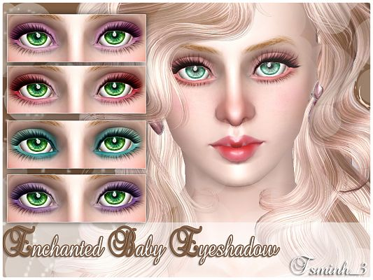Sims 3 makeup, set, eyeshadow, blush, lipstick