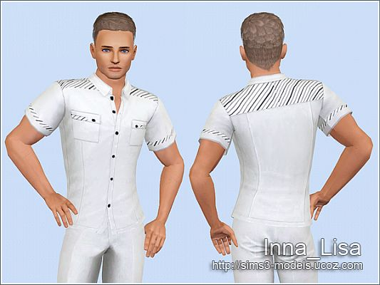 Sims 3 top, clothes, fashion, males, shirt