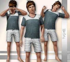Sims 3 pajama, teen, sleepwear, set, clotes