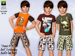 Sims 3 top clothing, male, outfit, child