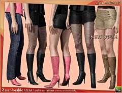 Sims 3 high heels, boots, shoes, female