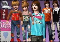 Sims 3 clothes, casual, male, female, child, teen