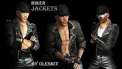 Sims 3 jacket, gloves, bracelet, bikers