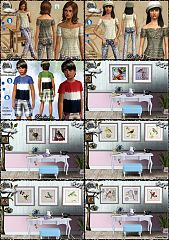 Sims 3 dress, cloth, clothing, outfit, fashion, paintings