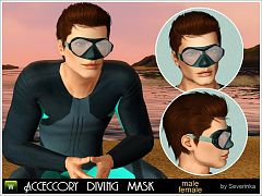 Sims 3 mask, diving, accessories