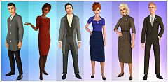 Sims 3 dress, cloth, clothing, outfit, fashion, business, male, suit
