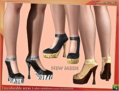 Sims 3 shoes, leather, zebra, print, footwear