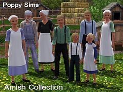 Sims 3 dress, cloth, clothing, outfit, amish